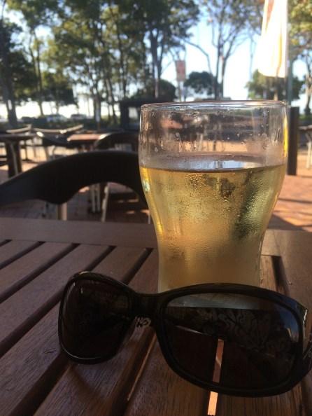 Kicking back and enjoying a cider in Hervey Bay
