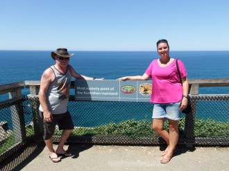 Craig & Emma at the most easterly point of Australia