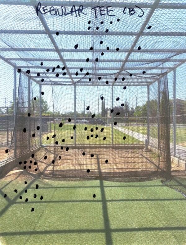 Baseball Batting Cage Drills: Conventional (Regular) Tee