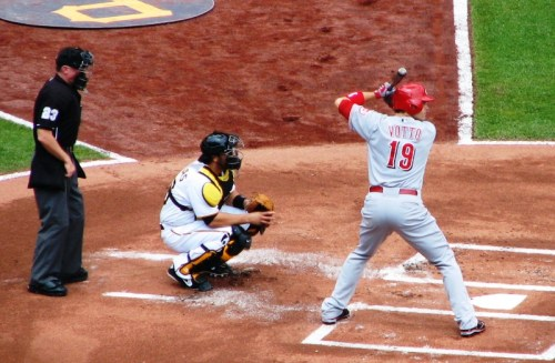 Baseball Swing Slow Motion Analysis: Joey Votto Batting