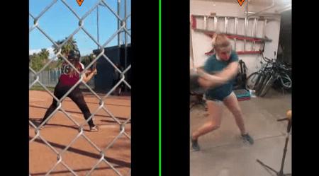 Kelli M BEFORE & AFTER Swings