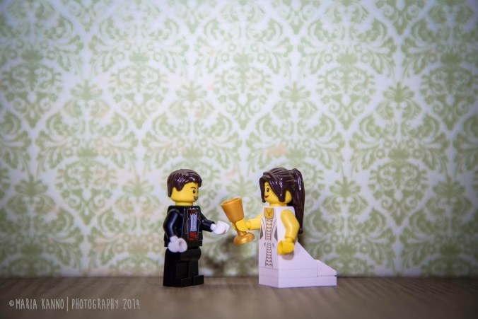 My lego daughter is getting married to a good lego man.