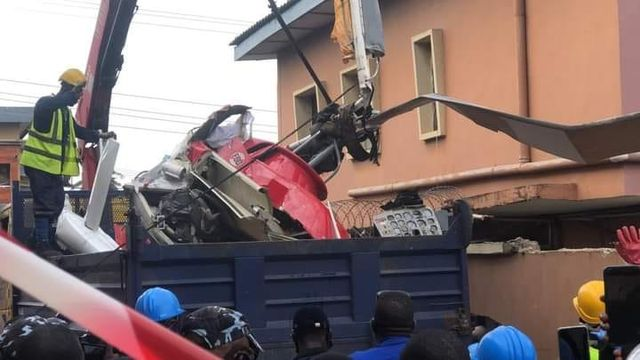 Two Die in Crashed Helicopter at Opebi, Lagos