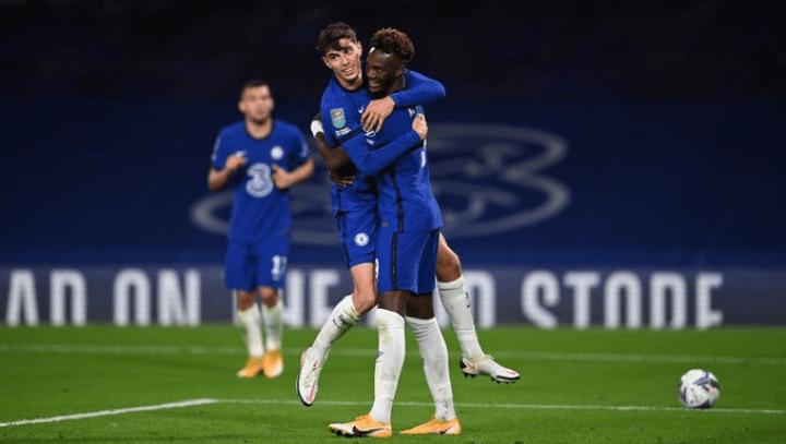 Havertz Celebrating first Chelsea goal