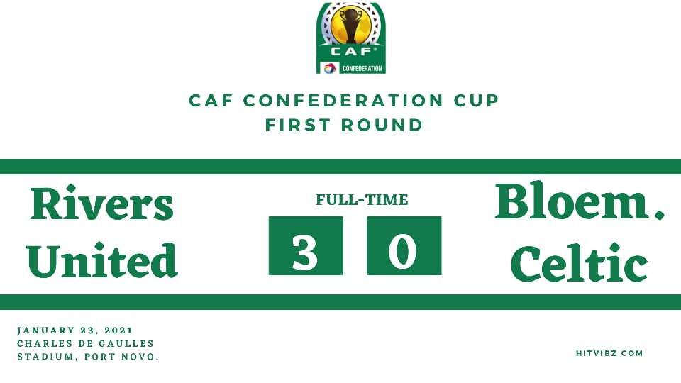CAFCC: Rivers United 3-0 Bloemfontein Celtic (5-0 agg) | Hitvibz