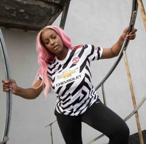 Cuppy Stars in Manchester United's New Kit Reveal