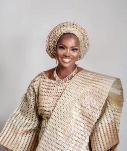Blue Eyed Lady Models Kwara State Aso Ofi At Sustainable Fashion Week New York.