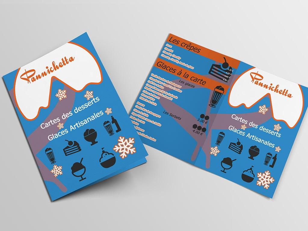 Cartes des glaces Pannichetta