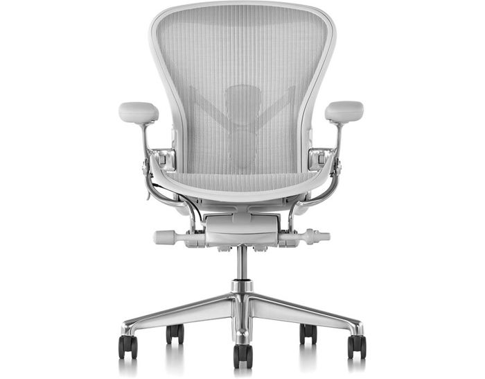 white aeron chair pad covers online india hivemodern com from herman miller