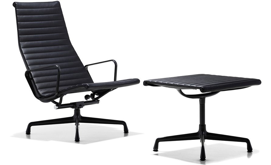 office chair with ottoman dining covers at ikea eames aluminum group lounge hivemodern com