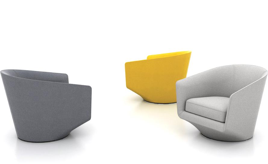 swivel club chair make your own rocking cushions bensen u turn hivemodern com by niels bendtsen from