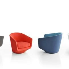 Steel Chair With Cushion Hanging Walmart Bensen U Turn Club - Hivemodern.com