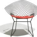 Bertoia small diamond chair with seat cushion hivemodern com