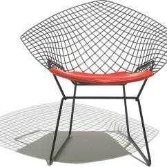 Chair Design Iron School Desk Chairs Bertoia Small Diamond With Seat Cushion Hivemodern Com