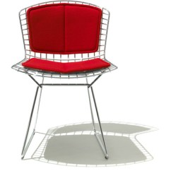 Chair Stool With Back Outdoor Wingback Bertoia Side Pad Seat Cushion Hivemodern Com By Harry From Knoll