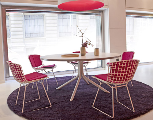 bertoia side chair magis pila with back pad seat cushion hivemodern com