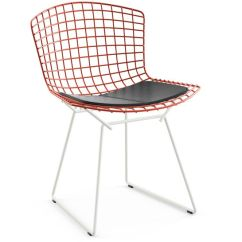 Bertoia Side Chair Godrej Revolving Price List Two Tone With Seat Cushion Hivemodern Com