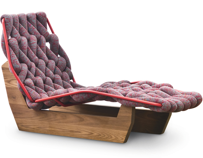 Biknit Chaise Lounge Chair  hivemoderncom