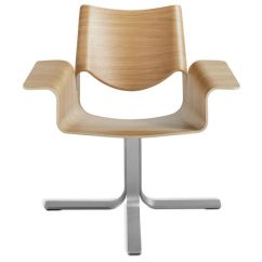 Blu Dot Chairs Desk Chair Leather Wood Buttercup Hivemodern Com