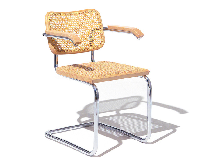 marcel breuer cesca chair with armrests clear plastic dining room covers cane seat hivemodern com