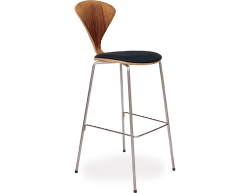 Cherner Metal Leg Stool With Upholstered Seat  hivemoderncom