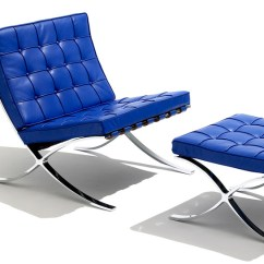 Barcelona Chair Leather Cool Chairs For Sale Child S Stool Hivemodern Com By Ludwig Mies Van Der Rohe From Knoll
