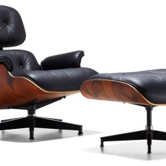 Recliner Vs Chair With Ottoman Modern Orange Leather Eames Lounge Hivemodern Com