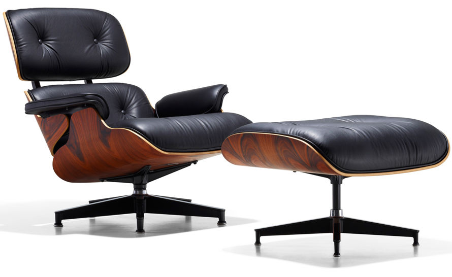 lounge chair leather tufted swivel eames ottoman hivemodern com