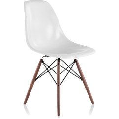 Eames Molded Side Chair Covers Christmas Fiberglass With Dowel Base Hivemodern Com By From Herman Miller