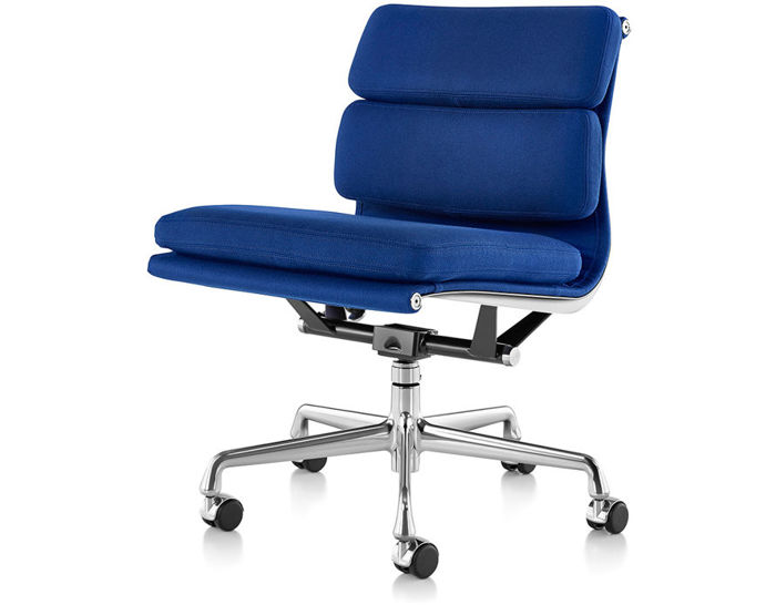 office chair without arms faux leather lounge eames soft pad group management with no hivemodern com