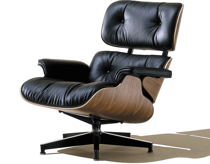 charles eames lounge chair round table and sets no ottoman hivemodern com by from herman miller