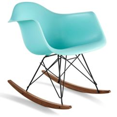 Arm Chair Rocker Single Bed Sleeper Eames Molded Plastic Armchair With Base Hivemodern Com By From Herman Miller