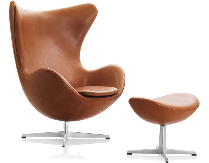 chair with ottoman barber shop egg hivemodern com by arne jacobsen from fritz hansen