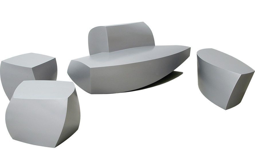 molded plastic outdoor sofa sleeper mattress sizes frank gehry 4 piece collection - hivemodern.com