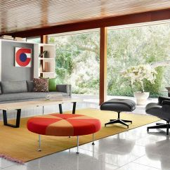 Double Lounge Chair Outdoor For Makeup Alexander Girard® Color Wheel Ottoman - Hivemodern.com