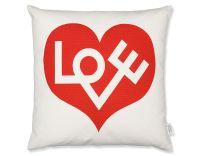 Alexander Girard Graphic Print Love Pillow - hivemodern.com