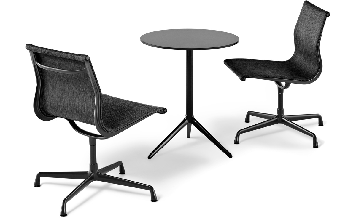eames aluminum management chair replica dental accessories india group side outdoor hivemodern com