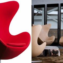 Arne Jacobsen Egg Chair Rustic Pine Ladder Back Chairs - Hivemodern.com