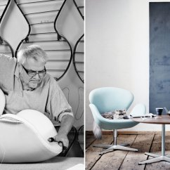 Marc Newson Chair Office Stool Ergonomic Arne Jacobsen Swan - Hivemodern.com