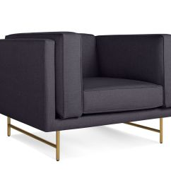 Blu Dot Bank Sofa Tara Leather Lounge Chair Hivemodern