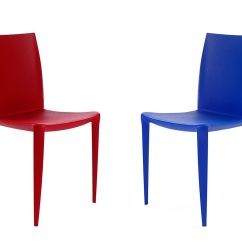 Mario Bellini Chair Accent Blue 4 Pack Hivemodern