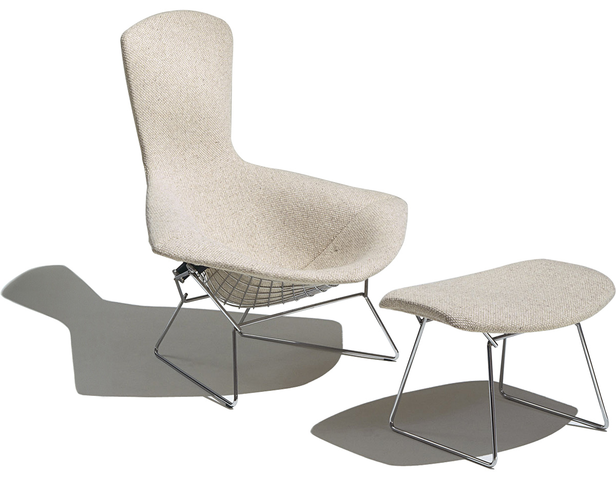 Harry Bertoia Chair Bertoia Bird Chair And Ottoman Hivemodern