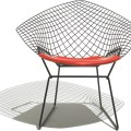 Lounge chairs gt harry bertoia diamond chair b polished stainless