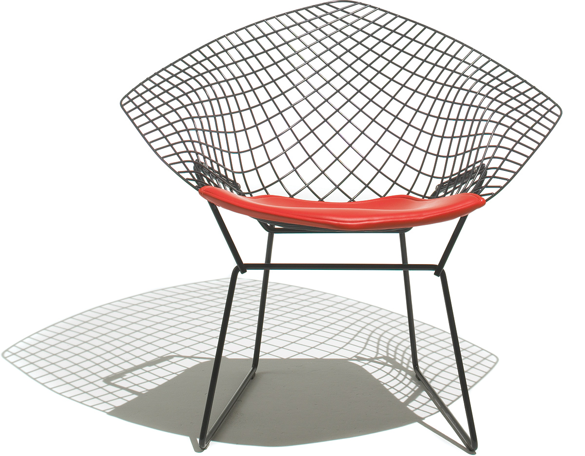 steel net chair best foldable lawn chairs bertoia small diamond with seat cushion hivemodern com