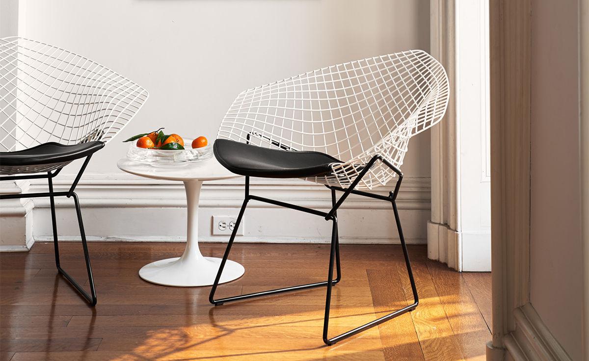 Bertoia Small Diamond Chair With Seat Cushion  hivemoderncom