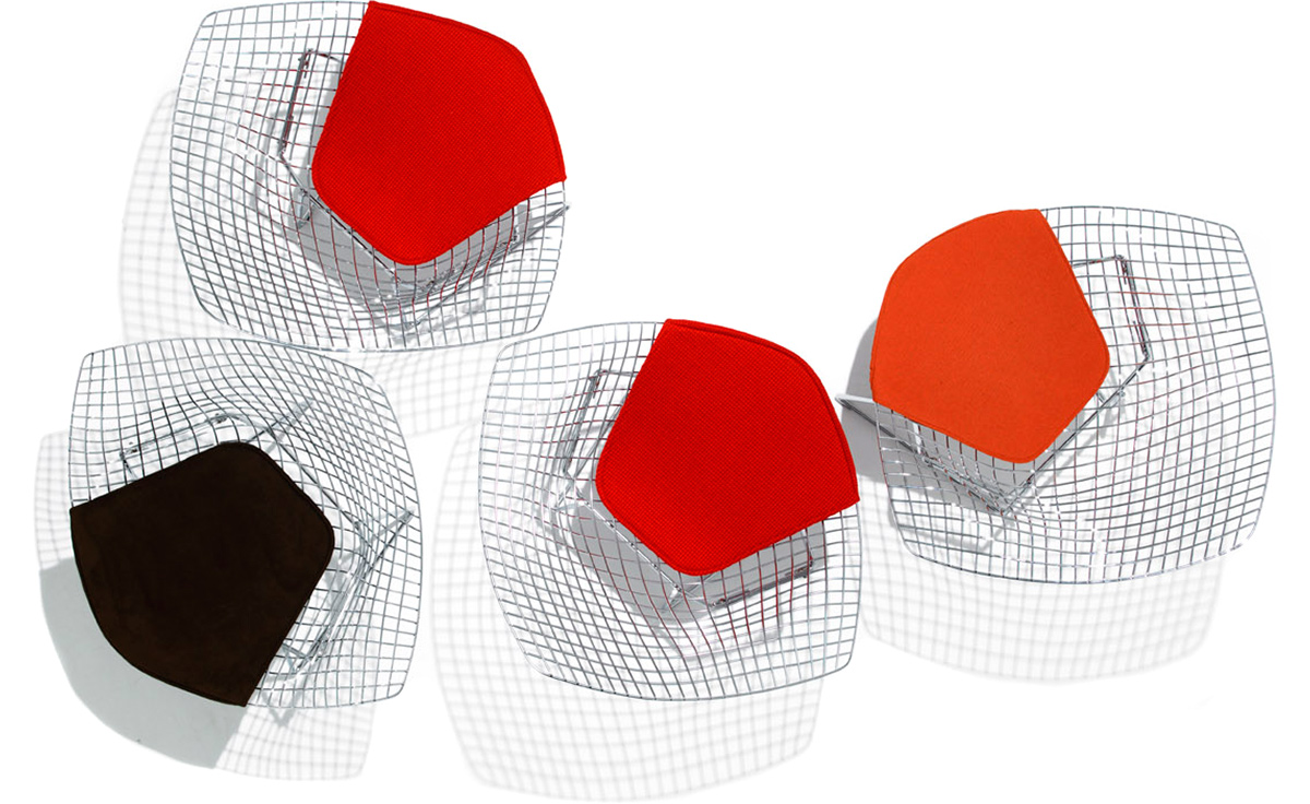 chair design top view convertable bed bertoia small diamond with seat cushion - hivemodern.com