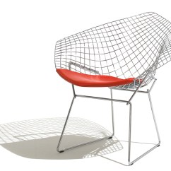 Knoll Bertoia Chair Covers Yorkshire Small Diamond With Seat Cushion Hivemodern