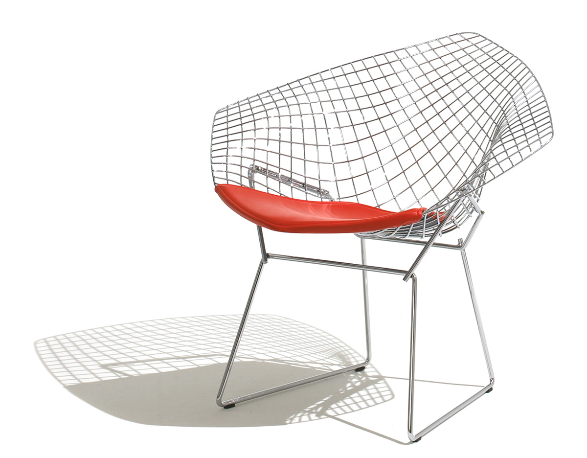 Harry Bertoia Chair Bertoia Small Diamond Chair With Seat Cushion Hivemodern