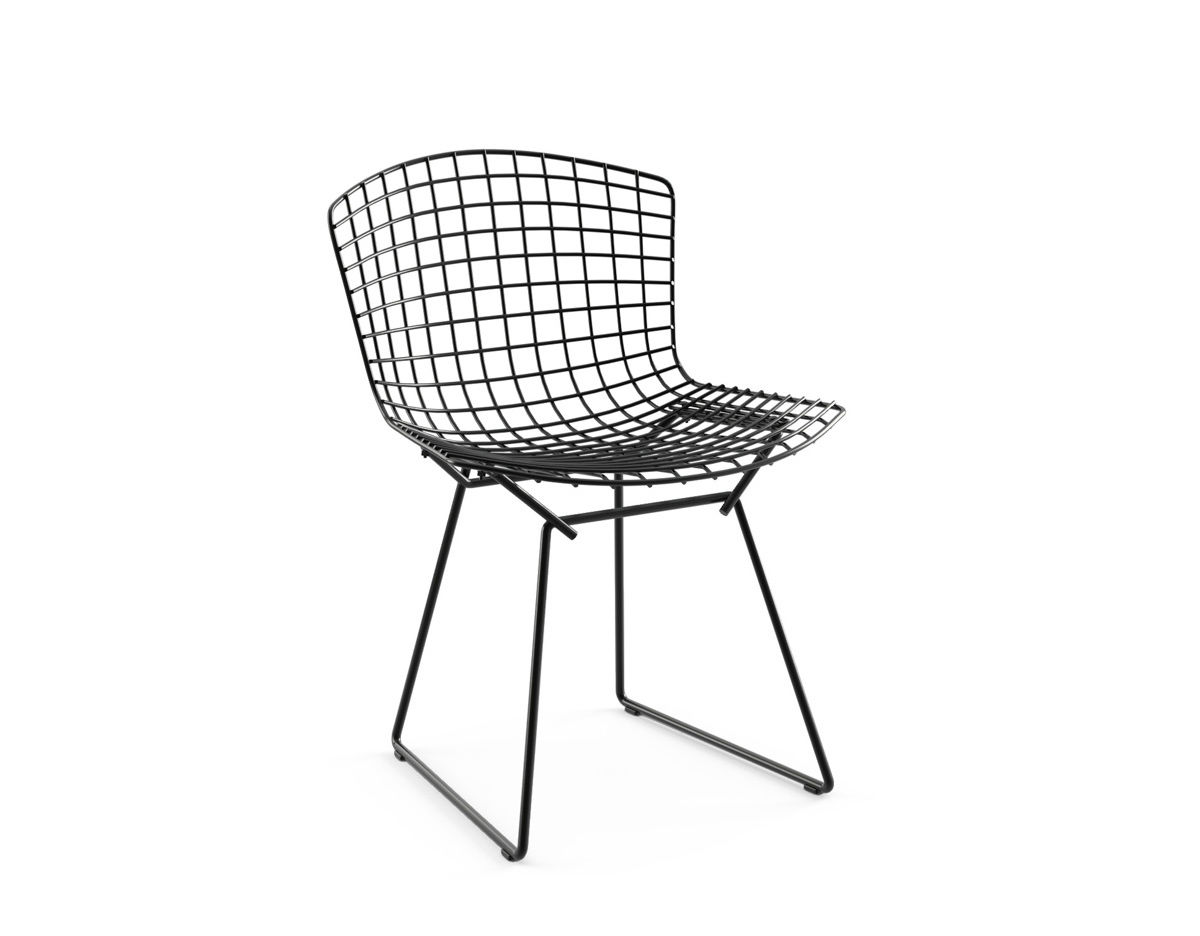 bertoia wire chair original revolving manufacturers in vadodara side unupholstered hivemodern com