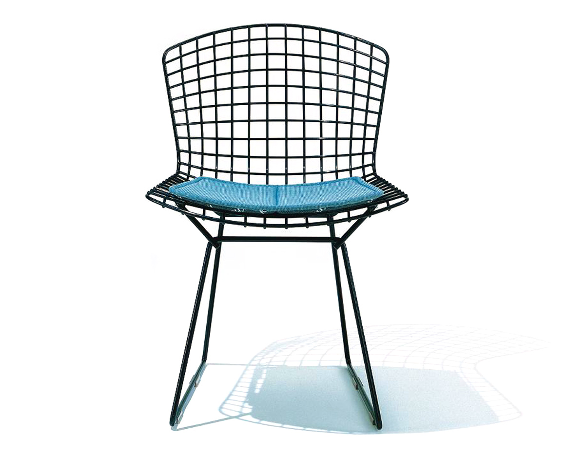 Bertoia Side Chair With Seat Cushion  hivemoderncom